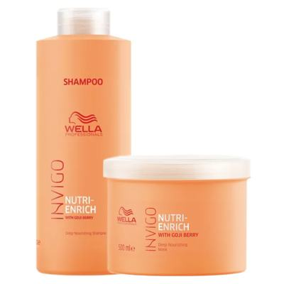 Wella Professionals Invigo Nutri-Enrich Kit - Shampoo + Máscara - Kit