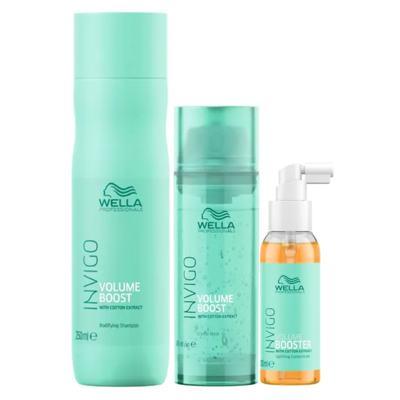 Imagem 1 do produto Wella Professionals Volume Booster Kit - Shampoo + Máscara + Sérum - Kit