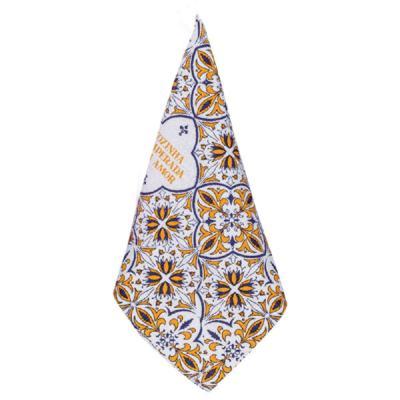 Imagem 1 do produto Pano de Copa Mosaico - Laranja e Azul