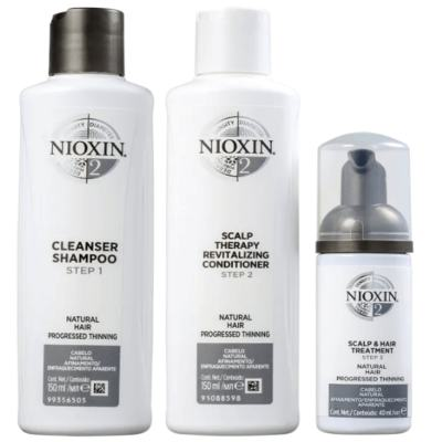 Imagem 1 do produto Kit Nioxin System 2 Shampoo 150ml + Condicionador 150ml + Leave-in 40ml