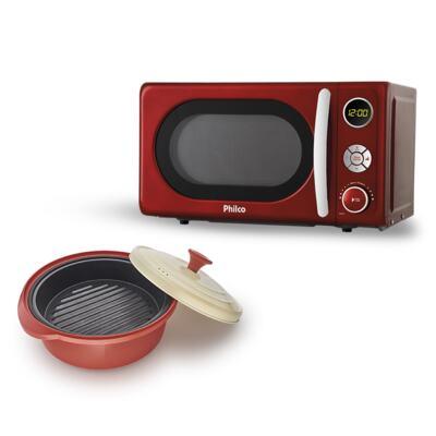 Imagem 1 do produto Micro-Ondas Retrô Philco Premium + Incredible Cook - | 220V