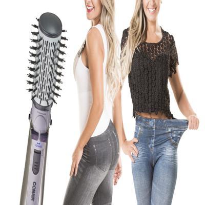 Imagem 2 do produto Escova Rotating Air Brush Titanium Conair + 2 Calças Modeladoras Lejeans - | 220v +  lejeans preta + azul classica