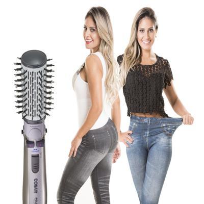 Imagem 1 do produto Escova Rotating Air Brush Titanium Conair + 2 Calças Modeladoras Lejeans - | 127v + lejeans preta + azul classica