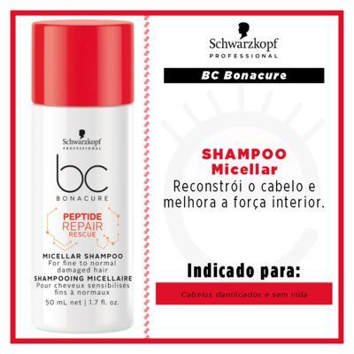 Imagem 2 do produto Shampoo Schwarzkopf Micellar Peptide Repair Rescue - 50ml