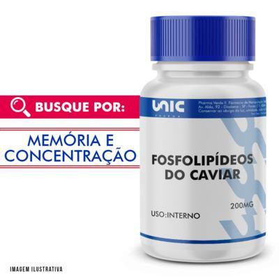 Fosfolipídeos do Caviar 200mg - 120 Cápsulas