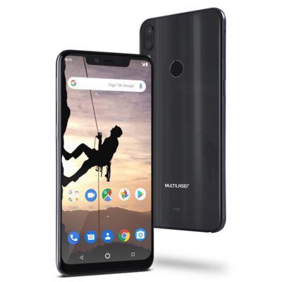 """Imagem 1 do produto Smartphone Multilaser MS80X 4G Android 8.1 Qualcomm 4GB RAM e 64GB Tela 6,2""""HD Câm Traseira 12MP+5MP Cam Frontal 16MP Dourado/Preto - P9088 - NB743 Copy"""