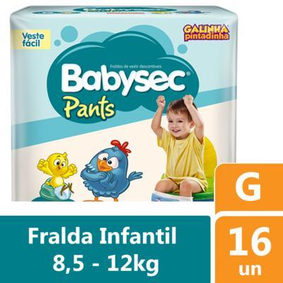 Fralda Babysec Pants Galinha Pintadinha G 16 unidades