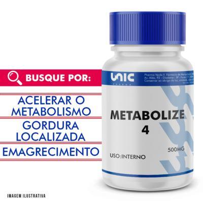 Imagem 1 do produto Metabolize 4 500mg com selo de autenticidade - 120 Cápsulas