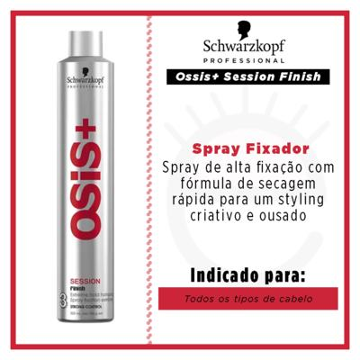 Imagem 3 do produto Schwarzkopf Professional Ossis+ Session Finish - Spray Fixador - 500ml