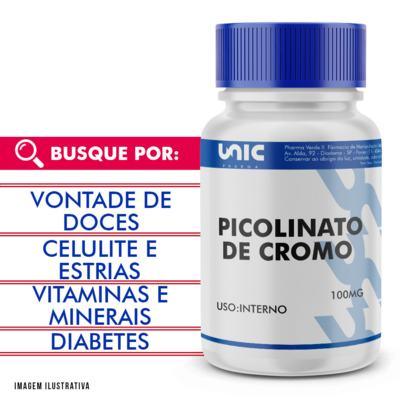 Picolinato de Cromo 100mcg - 120 Cápsulas