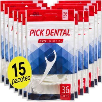Imagem 1 do produto 15 Pick Dental Fio Fita oralb Flosser com Cabo kids Haste e Palito ( 540 unid ) -