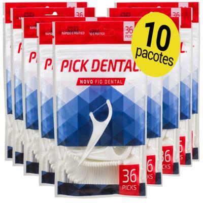 Imagem 1 do produto 10 Fio Dental Pick Super Floss com Haste Palito Cabo Fita kids  ( 360 Picks ) -