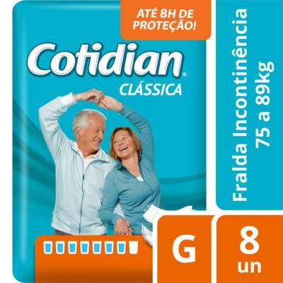 Imagem 1 do produto Fralda Geriátrica Cotidian Clássica G 8 Unidades