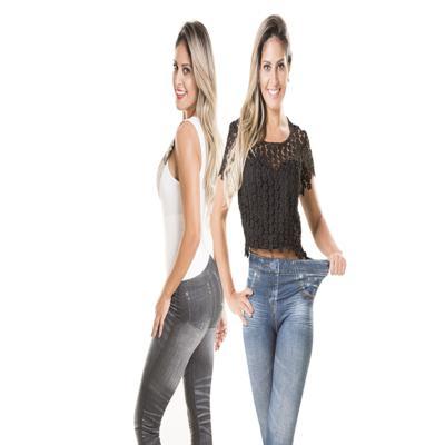 Imagem 2 do produto Calça Modeladora Lejeans - 2 Unidades - | Preto + Azul Clássico