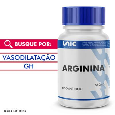 Imagem 1 do produto Arginina 550mg - 120 Cápsulas
