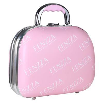 Imagem 1 do produto Maleta de Maquiagem Pequena Fenzza - Pin Up Lettre Collection Pink - Maleta de Maquiagem