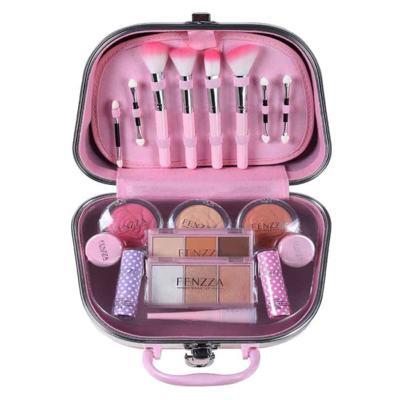 Imagem 2 do produto Maleta de Maquiagem Pequena Fenzza - Pin Up Lettre Collection Pink - Maleta de Maquiagem