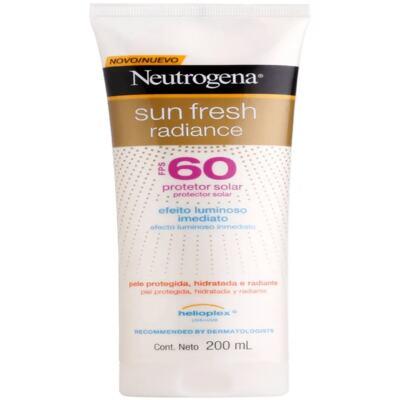 Imagem 1 do produto Protetor Solar Neutrogena Sun Fresh Radiance FPS 60