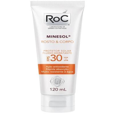 Protetor Solar Roc Minesol Rosto e Corpo FPS 30
