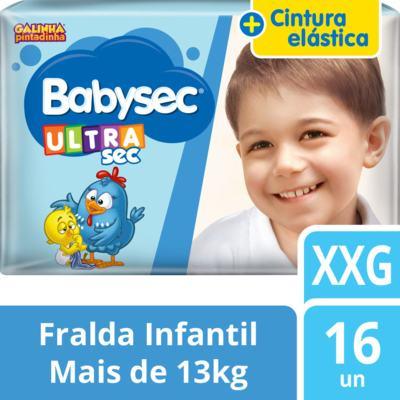 Imagem 2 do produto Fralda Babysec Galinha Pintadinha Ultrasec Jumbo XXG 16 Unidades