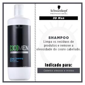 Schwarzkopf 3D Men - Shampoo Anti-Oleosidade - 1L
