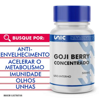 Imagem 1 do produto Goji berry 500mg concentrado - 120 Cápsulas
