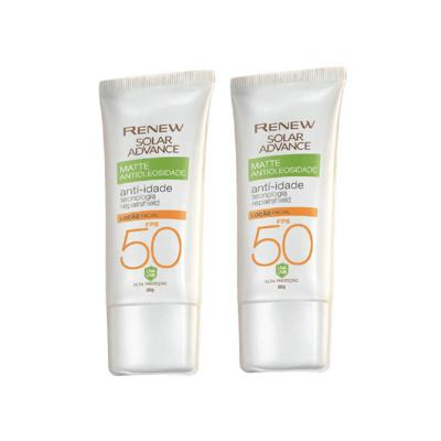 Imagem 1 do produto Kit Protetor Solar Facial Renew Advance Matte Anti-Idade FPS 50 - 50g