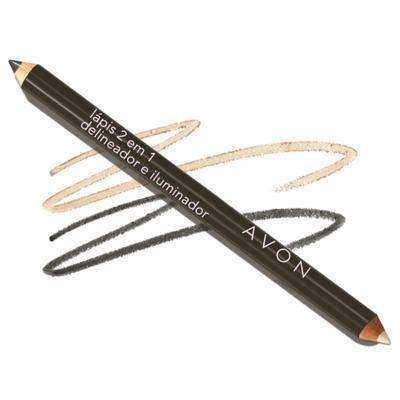 Lápis Delineador e Iluminador para os Olhos 2 em 1 Avon 0,96g