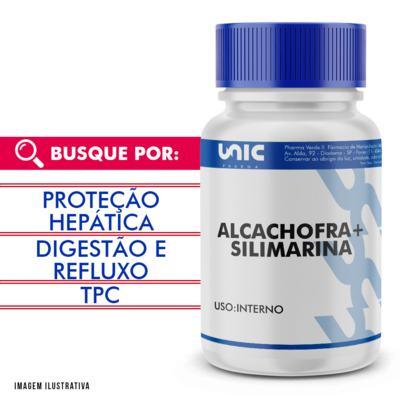 Imagem 1 do produto Protetor hepático natural - Alcachofra 300mg + Silimarina 50mg - 120 Cápsulas
