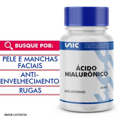 Imagem 1 do produto Ácido hialurônico 40mg - 60 Cápsulas