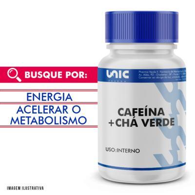 Imagem 1 do produto Cafeína 300mg + Chá Verde 250mg - 90 Cápsulas