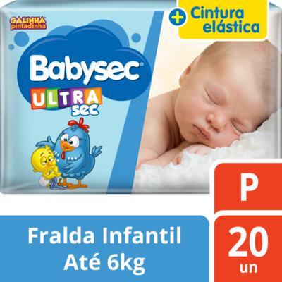 Imagem 1 do produto Fralda Babysec Galinha Pintadinha Ultra Jumbinho P 20 Unidades