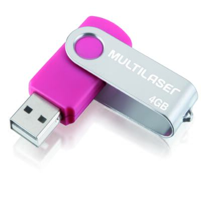 Imagem 1 do produto Pendrive Multilaser TWIST Rosa 4GB - PD686 - PD686