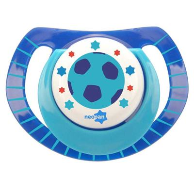 Chupeta Neopan Bico de Silicone Ortodôntica Tamanho 2 Bola Azul Ref 4845