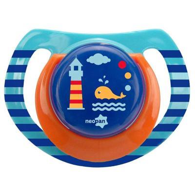 Chupeta Neopan Bico de Silicone Ortodôntica Tamanho 1 Baleia Azul Ref 4836