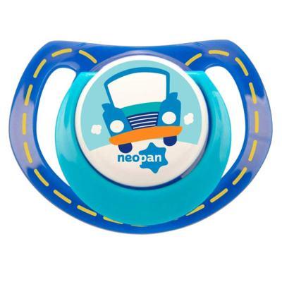 Chupeta Neopan Bico de Silicone Ortodôntica Tamanho 2 Carro Azul Ref 4841