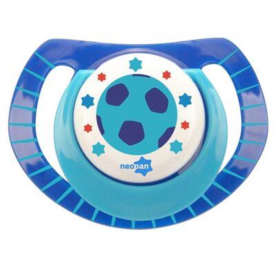 Imagem 1 do produto Chupeta Neopan Bico de Silicone Ortodôntica Tamanho 1 Bola Azul Ref 4835