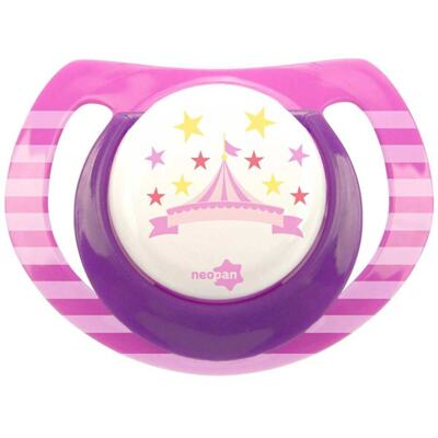 Imagem 1 do produto Chupeta Neopan Bico de Silicone Ortodôntica Tamanho 2 Circo Rosa Ref 4847