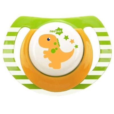 Imagem 1 do produto Chupeta Neopan Bico de Silicone Ortodôntica Tamanho 1 Dinossauro Verde Ref 4839
