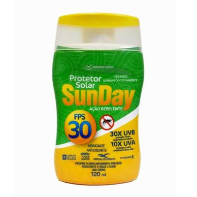 Protetor Solar Sunday FPS 30 Ação Repelente 120ml