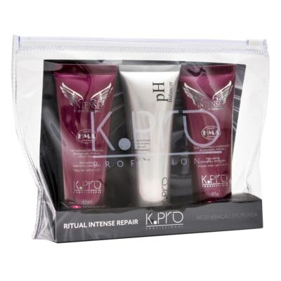 K-Pro Ritual Intense Repair Kit - Shampoo + pH Balancer + Condicionador - Kit