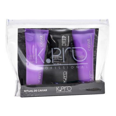 K-Pro Ritual de Caviar Kit - Shampoo + Resconstrutor + Condicionador - Kit