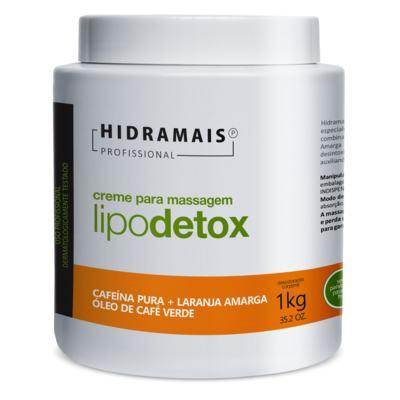 Imagem 1 do produto Creme para Massagem Hidramais - Lipodetox - 1Kg