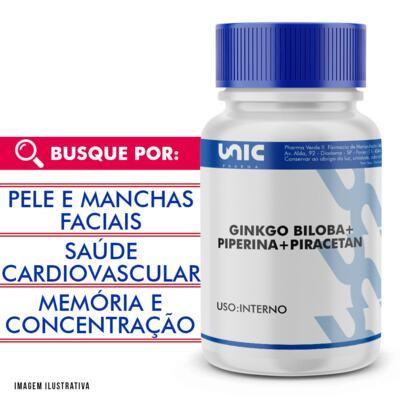 Imagem 1 do produto Piperina + Piracetan + Ginkgo Biloba - 120 Cápsulas