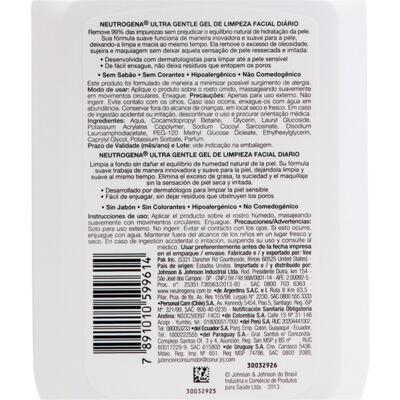 Imagem 4 do produto Gel de Limpeza Facial Neutrogena Ultra Gentle - 354ml