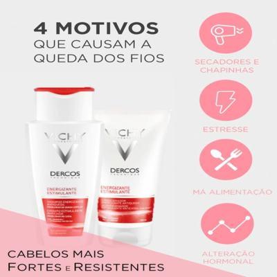 Imagem 5 do produto Dercos Shampoo Energizante Vichy - Shampoo para Enfraquecimento Capilar e Queda - 400ml