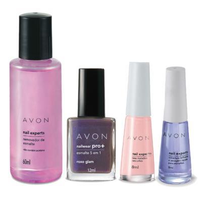 Imagem 1 do produto Kit Completo Unhas Nailwear Pró+ Esmalte Roxo Glam