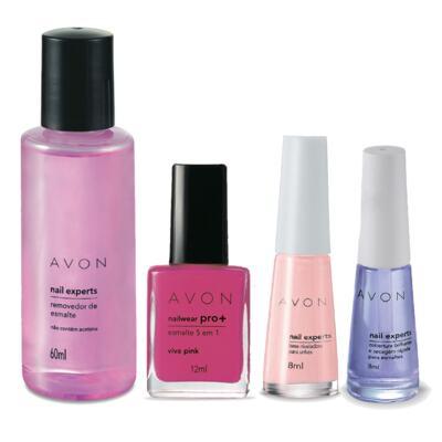Imagem 1 do produto Kit Completo Unhas Nailwear Pró+ Esmalte Viva Pink