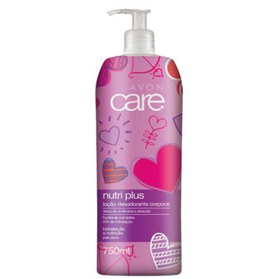 Loção Desodorante Corporal Avon Care Nutri Plus Amêndoa e Abacate Coração - 750ml