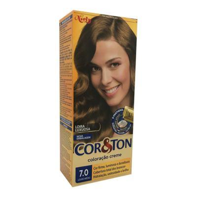Imagem 1 do produto Coloração Creme Cor & Ton Niely Louro Médio 7.0